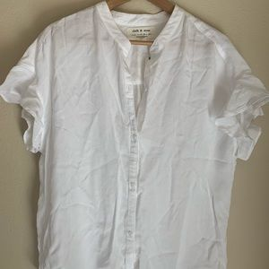 Cloth & Stone Ruffled Sleeve Button Down Size XL